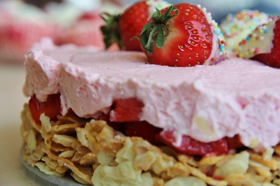 Knusper Erdbeer Kuchen