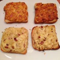 Sauerkraut- und Pizzabrot